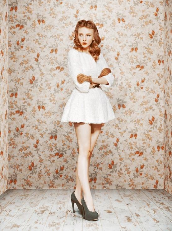 Фото в платье рыжей